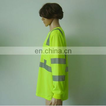 High Visibility Long Sleeve 100% Cotton Reflective T-Shirt