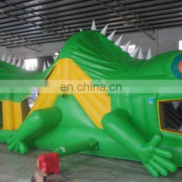 2017 high quality new design outdoor green Lizard inflatable obstacle/ obstacle course challenge for sale