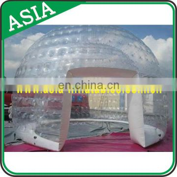 Air-Conditioned Giant Snow Globe to Promotion, Half Transparent Inflatable Bubble Tent with 2 Tunnels for Camping