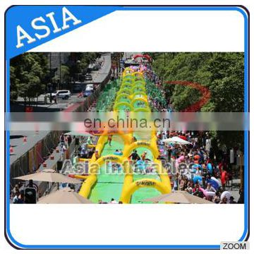 Giant large funny best popular long water slide the city, super fun slip n slide inflatable slide the city