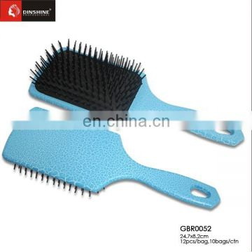 ECO natural plastic hair brush set with nylon pins GuangZhou hair brush manufacturing