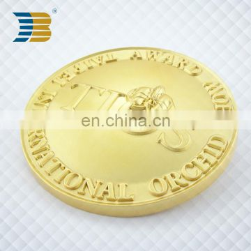professional high quality 3D matt fake gold custom souvenir coins