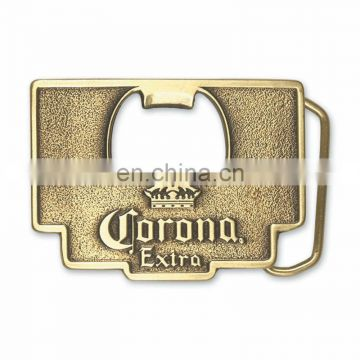 Gold plated metal engrave bottle opener belt buckles