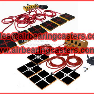 Air caster rigging system low cost