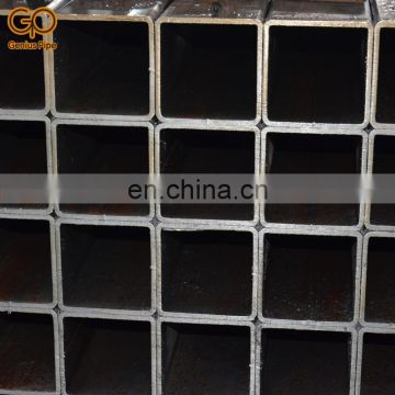 Good quality Q345B astm a500 10x10 100x100 grade b square rectangle hollow carbon steel pipe
