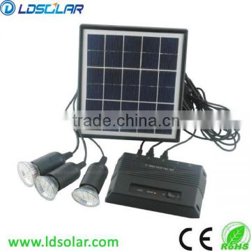 Mini solar lighting system with 3 LEDs