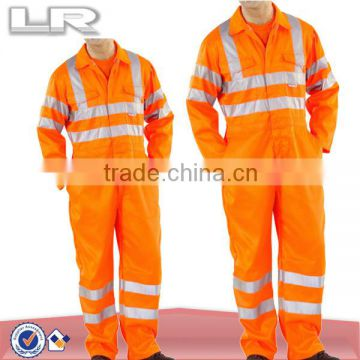 Orange Hi-vis Reflective Safety Coverall