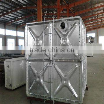 overhead water tank hot dipped galvanized steel water storage tank