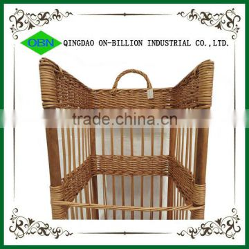 Cheap hand woven wicker baguette basket for french bread