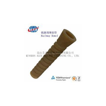 Railway Screw Dowel for fasteners, Customized Design Railway Screw Dowel, Fastening Railway Screw Dowel