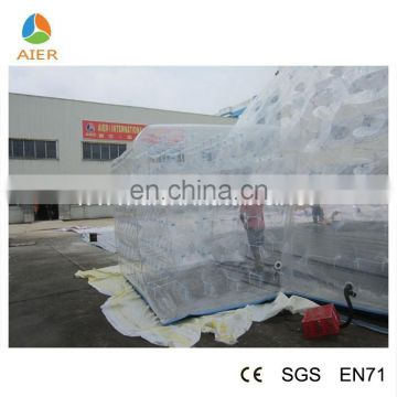 Large size transparent tent, transparent PVC inflatable tent, transparent camping tent