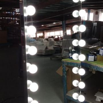 LED Floor Standing Vanity Mirror with Lighted Hollywood Makeup