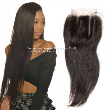 9A Brazilian Straight Human Virgin Hair Weave 3 Bundles With Lace Frontal