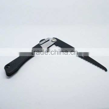 High carbon steel folding saw with plastic handle