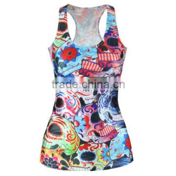 OEKOTEX-CERTIFICATE Factory Custom polyester interlock sublimation printing sleeveless shirt