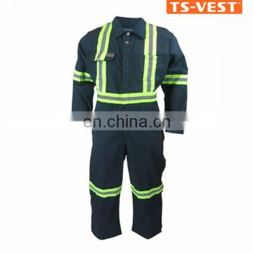 High-vis long-sleeve workwear fireproof reflective safety coverall