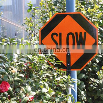 Customized traffic Australia Standard Reflective LED Stop Traffic Warning Signs