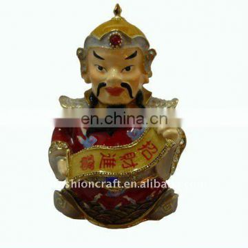 Chinese god traditional trinket box