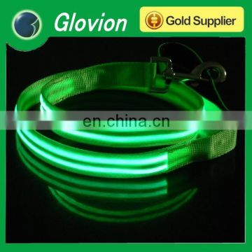 Glovion charming led flashing leash led lashing dog leash nylon glow leash