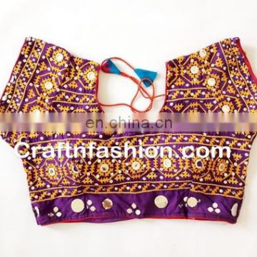 Ready made Wedding wear Blouse- Antique kutch rabari banjara gypsy Blouse- Tribe traditional hand emb blouse