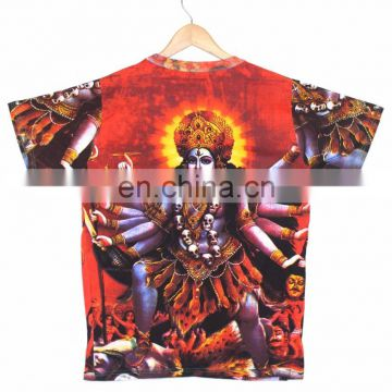 Indian Unisex Shakti Hindu Mother Goddess DIVINE Deity T shirt Psychedelic Unisex wear Hippie Dj Art T - Shirt shirt M / L / Xl