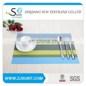 Free sample Colorful stripe placemat with PVC