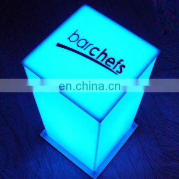 Square blue pmma plexiglass acrylic led light box