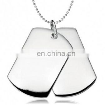 ... Classic Two-pieces Mens Military Army Dog Tag Pendant Necklace with 28 inches Ball Chain ...