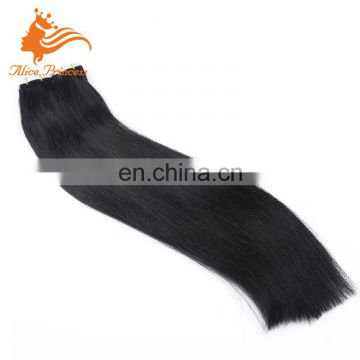 Wholesale Virgin Hair Dropship Malaysian Human Silky Straight Tape Hair Extension 10-30Inch In Stock Jet Black Color