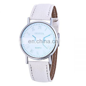 Hot sale cheap mens watch geneva watch leather watch strap