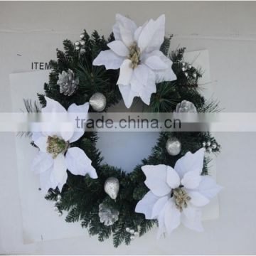 Artificial Christmas Wreaths.Gold Glitter Mini Artificial Christmas Wreaths Cheap Unique Plastic Decorative Christmas Wreath