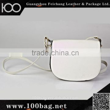 latest college girls metal rivet pu leather shoulder messenger bag white small fancy shoulder bags