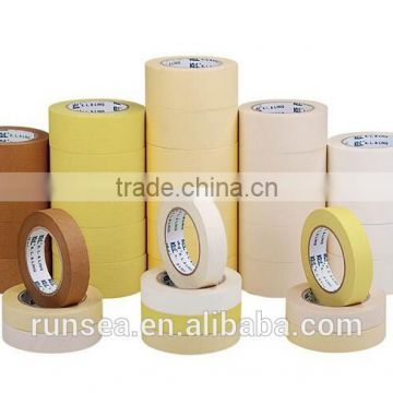 Best sale yellow rubber crepe paper painters masking tape