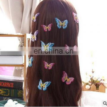 Women's lace butterfly hairpins girl's lovely fashion hair clips The bride headdress hair studio props