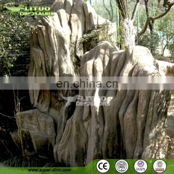Landscape Decoration Project Artificial Rock Fiberglass Landscape