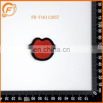 Embroidery Patch Red lips Designs Custom Badge
