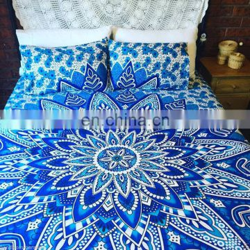 Bohemian Indian Queen Mandala Duvet Cover Throw Reversible Cotton Quilt Cover SSTH54
