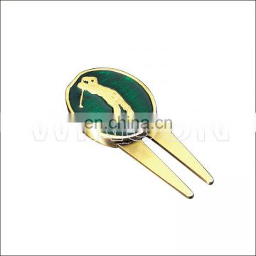 golf divot tool and ball marker with custom logo