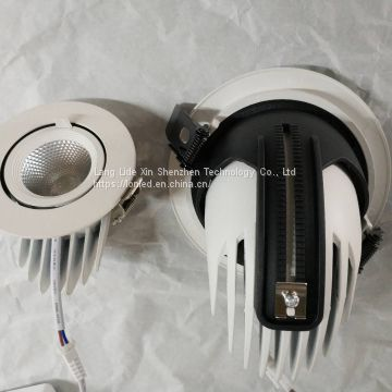 Recessed LED COB Spotlight Aluminum Case Gimbal light