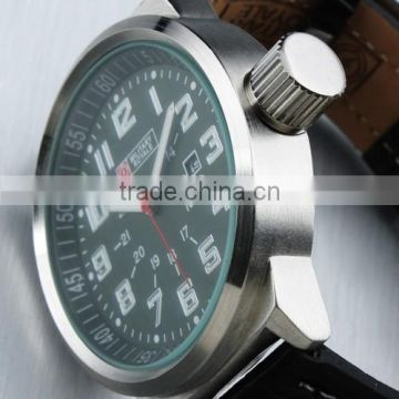 MR025 Brand New Green face Design mens man analog army military sport leatcher watch