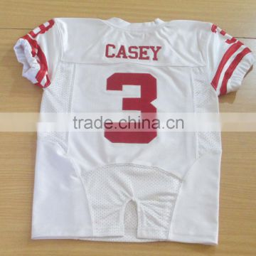 Tackle twill American football jersey sublimation sleeve