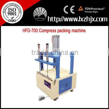 Nonwoven textile clothes compress packing machine