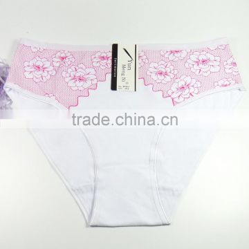 Breathable Cotton Panties With Flower Printing Grils Briefs Sexy Lingerie