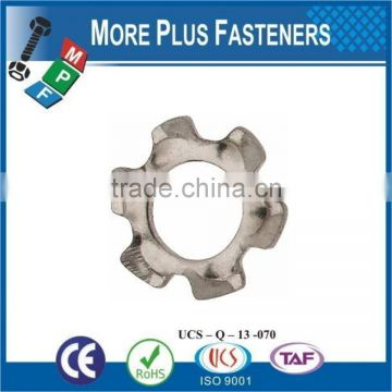 Made in Taiwan Bright Zinc Plated External Tooth Lock Washer
