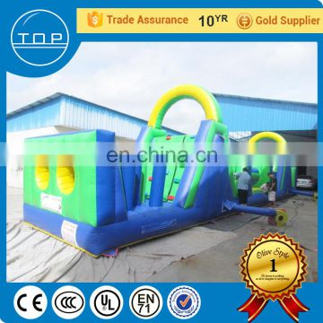 Golden Supplier toys kids wipeout course sale inflatable tunnel rental for wholesales