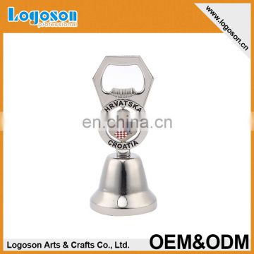 Home decoration custom dinner bell with bottle opener