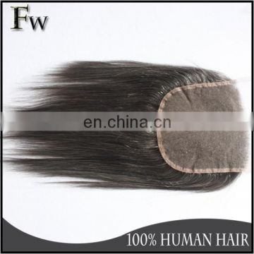 7x7 size gray color straight human hair lace closure