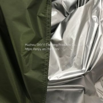 Outdoor deep Green silver coated waterproof tarp sun shelter
