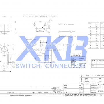 Hot sale China XKB Tact Switch Pin Type 6.0x6.0 Side Operation With Bracket, Strength Can Be Customized