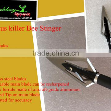 Magnus killer bee Stinger Fixed-Blade Broadheads Stainless steel 4 blades 100gr hunting LinkBoy